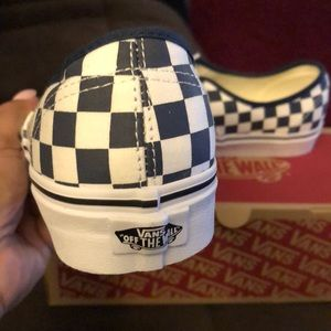 Vans Shoes - Vans checkerboard navy and white